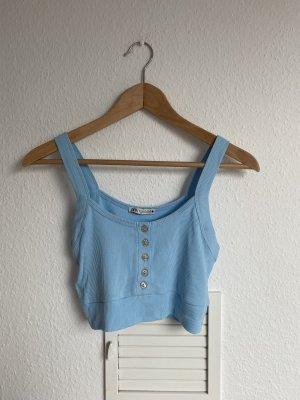 Zara Cropped top azuur-lichtblauw