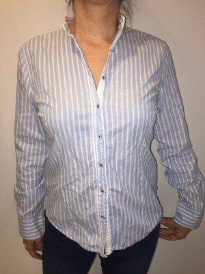 Zara hellblaue Bluse mit Streifen L klassische Impressionen