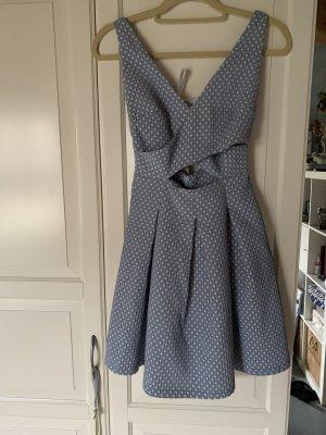 Zara Vestido cut out azul celeste