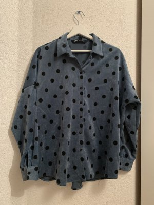 Zara Camicia a maniche lunghe nero-blu fiordaliso