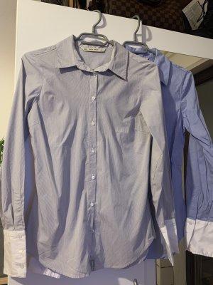 Zara Camicia blusa grigio chiaro-azzurro