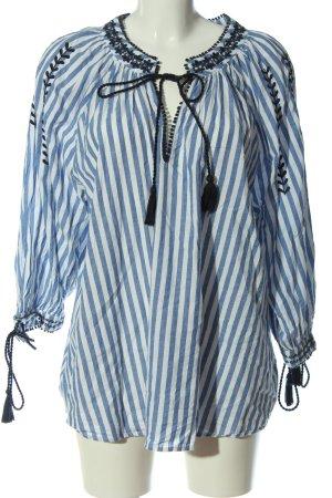 Zara Hemd-Bluse blau-weiß Streifenmuster Business-Look