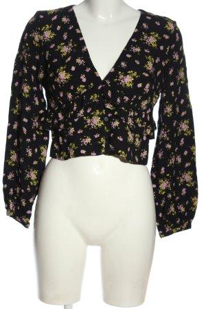 Zara Hemd-Bluse Blumenmuster Casual-Look