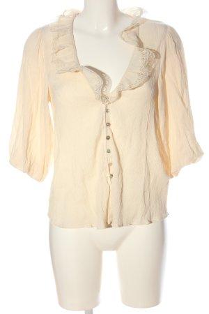Zara Camicia blusa crema stile casual