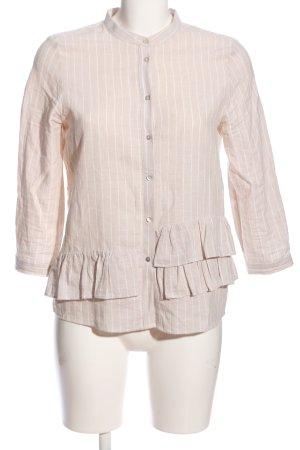 Zara Hemd-Bluse creme Streifenmuster Casual-Look