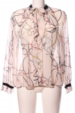 Zara Hemd-Bluse pink-hellgrau Allover-Druck Casual-Look
