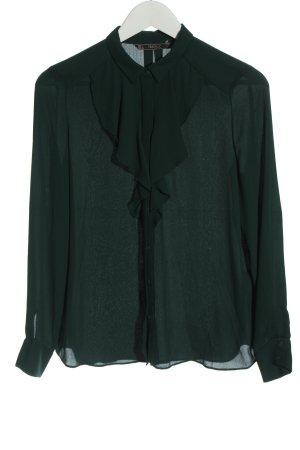 Zara Hemd-Bluse grün Business-Look