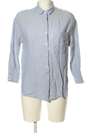 Zara Blouse-chemisier bleu-blanc motif rayé style décontracté