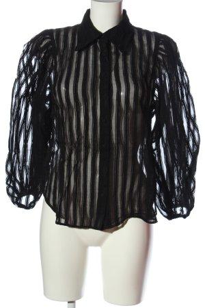 Zara Hemd-Bluse schwarz Streifenmuster Elegant