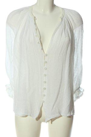 Zara Hemd-Bluse weiß Casual-Look
