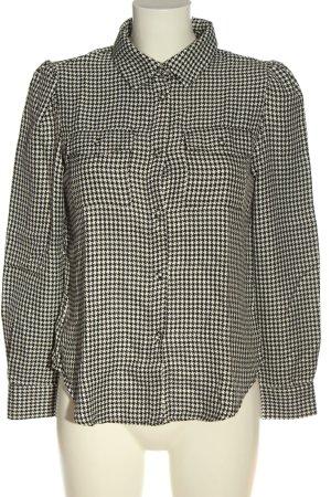 Zara Hemd-Bluse schwarz-weiß Allover-Druck Casual-Look