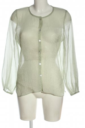 Zara Hemd-Bluse hellgrau Business-Look