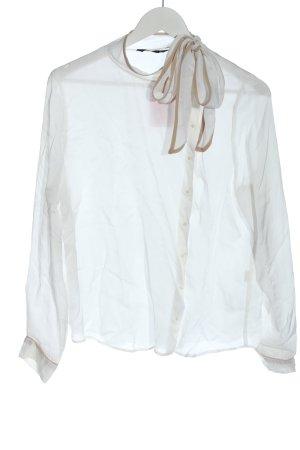 Zara Blouse-chemisier gris clair-rose chair style décontracté