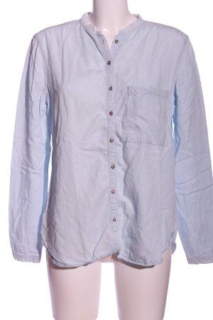 Zara Hemd-Bluse blau Casual-Look