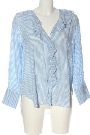 Zara Hemd-Bluse blau-weiß Allover-Druck Casual-Look