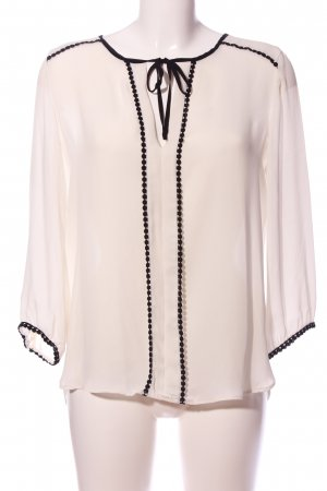 Zara Camicia blusa bianco-nero stile professionale