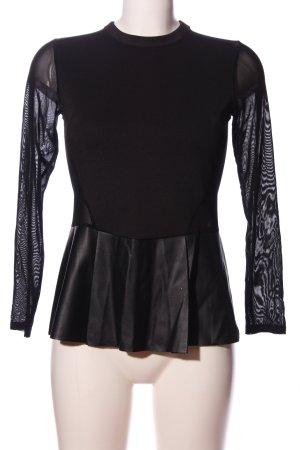Zara Hemd-Bluse schwarz extravaganter Stil