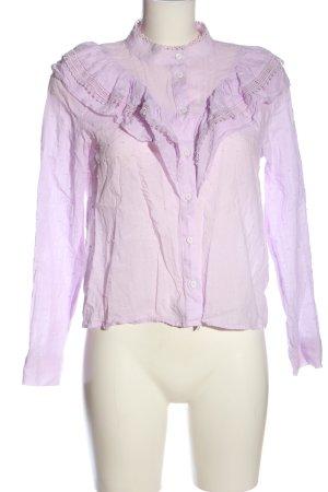 Zara Hemd-Bluse lila Elegant