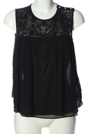 Zara Hemd-Bluse schwarz Casual-Look