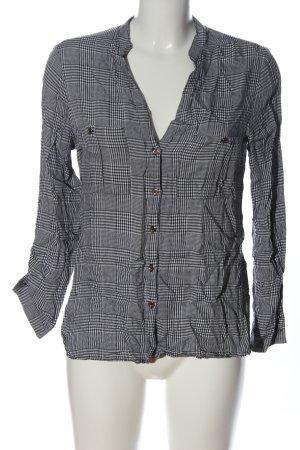 Zara Hemd-Bluse schwarz-weiß Allover-Druck Business-Look