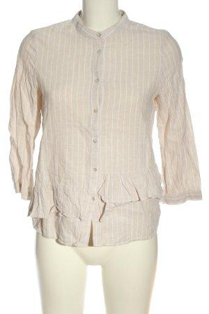 Zara Hemd-Bluse creme-weiß Allover-Druck Casual-Look