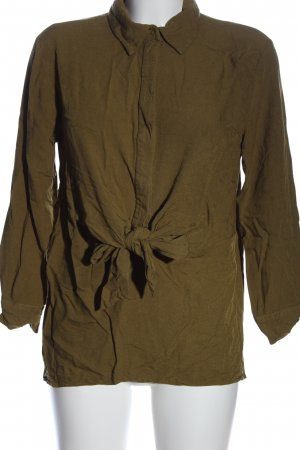 Zara Hemd-Bluse bronzefarben Casual-Look