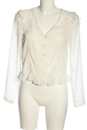 Zara Hemd-Bluse weiß Elegant