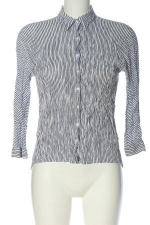 Zara Hemd-Bluse weiß-schwarz Allover-Druck Business-Look