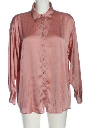 Zara Hemd-Bluse pink Business-Look