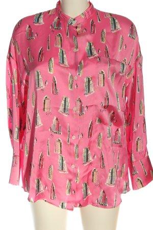 Zara Hemd-Bluse Allover-Druck Casual-Look