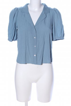 Zara Hemd-Bluse blau Business-Look