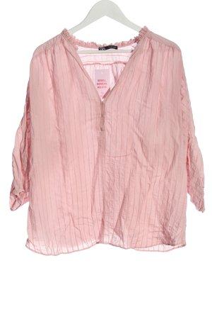 Zara Hemd-Bluse pink Streifenmuster Casual-Look