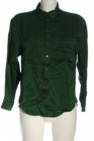 Zara Hemd-Bluse grün Casual-Look
