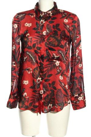 Zara Hemd-Bluse abstraktes Muster Casual-Look