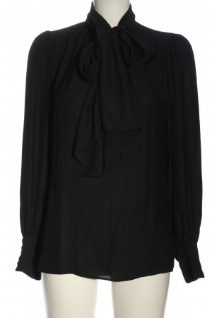 Zara Hemd-Bluse schwarz Business-Look