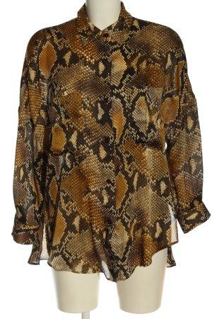 Zara Koszulowa bluzka brązowy Na całej powierzchni Elegancki