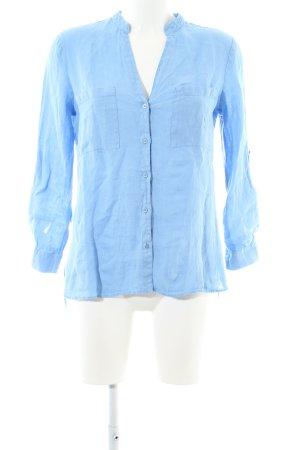 Zara Hemd-Bluse blau Business-Look
