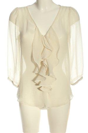 Zara Hemd-Bluse wollweiß Elegant