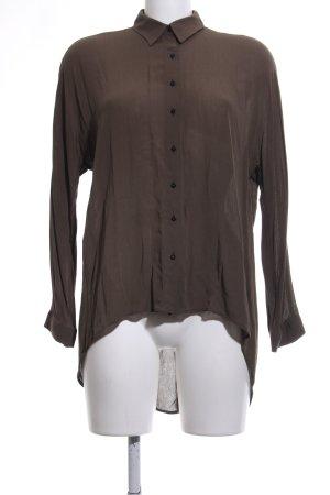 Zara Hemd-Bluse braun Casual-Look