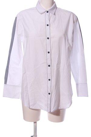 Zara Camicia blusa bianco-nero stile casual