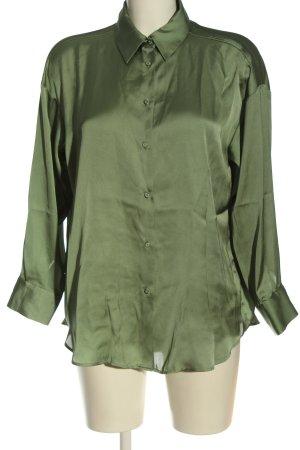 Zara Hemd-Bluse grün Elegant