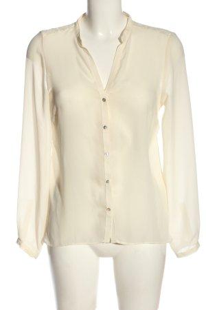 Zara Hemd-Bluse creme Business-Look