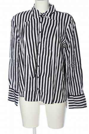 Zara Hemd-Bluse schwarz-weiß Streifenmuster Casual-Look