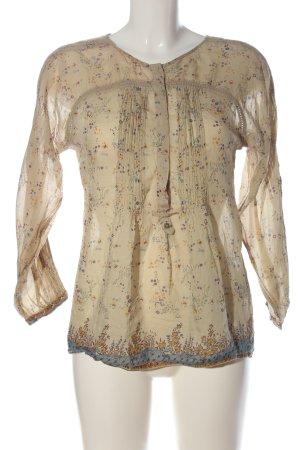 Zara Hemd-Bluse wollweiß Blumenmuster klassischer Stil