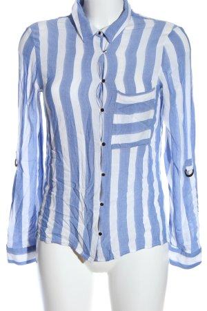 Zara Hemd-Bluse blau-weiß Streifenmuster Casual-Look