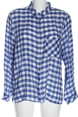 Zara Hemd-Bluse blau-weiß Karomuster Casual-Look