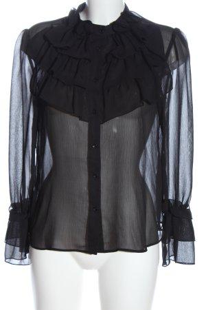 Zara Hemd-Bluse schwarz Elegant