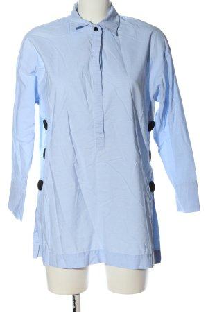 Zara Camicia blusa blu elegante