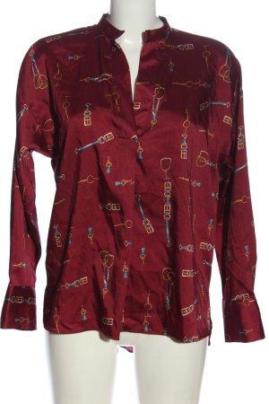 Zara Hemd-Bluse rot Motivdruck Business-Look
