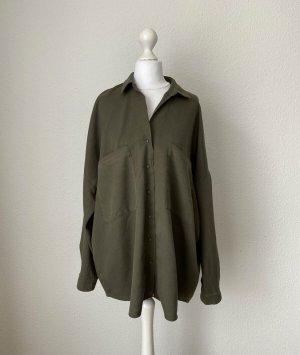Zara Hemd Bluse Khaki Größe M